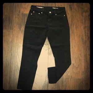 GAP Black Distressed Jeans